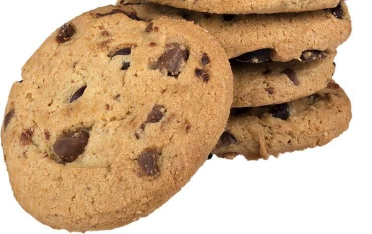 Biscotti con gocce cioccolato