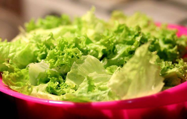 Condite l'insalata verde