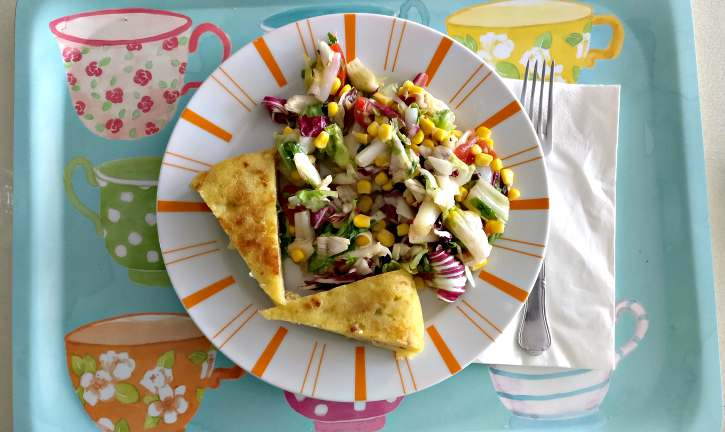 frittata senza uova di zucchine