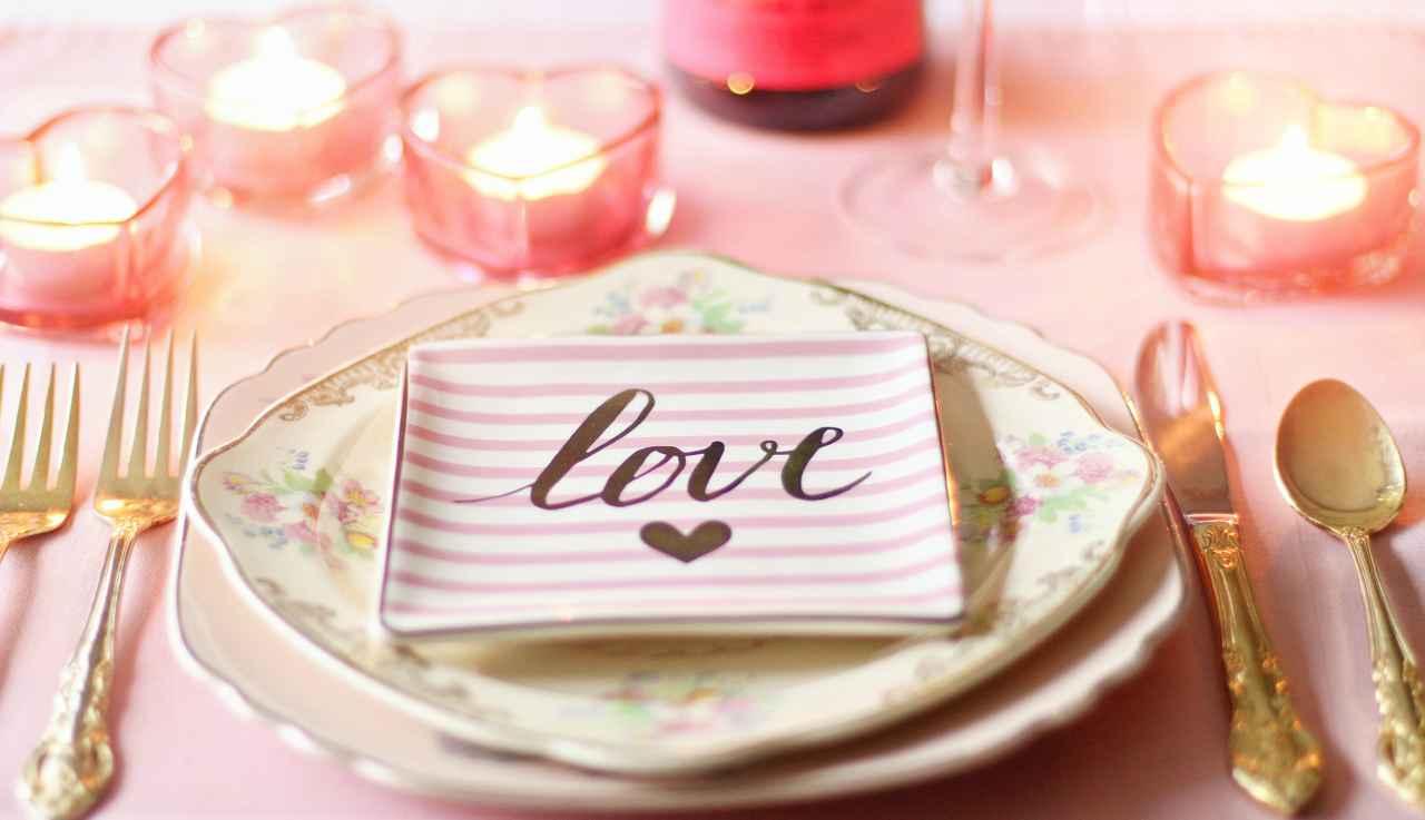 menù per una serata romantica