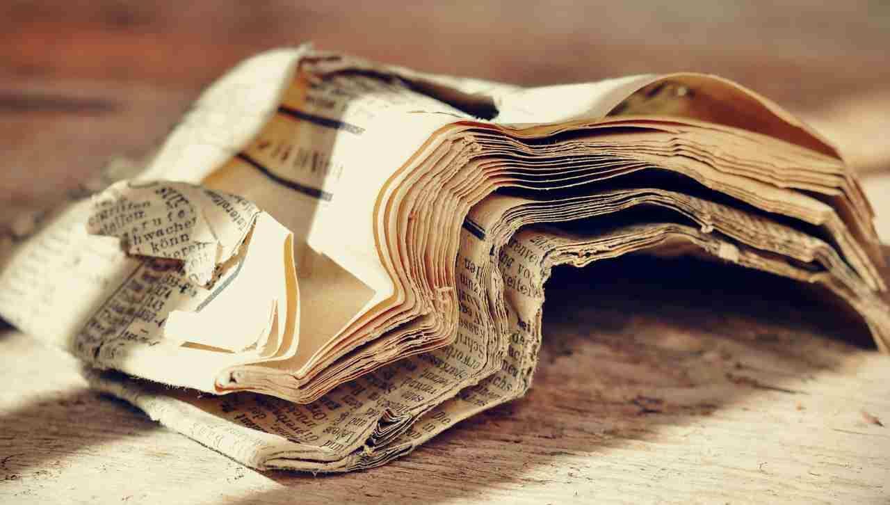 fogli giornali riutilizzarli