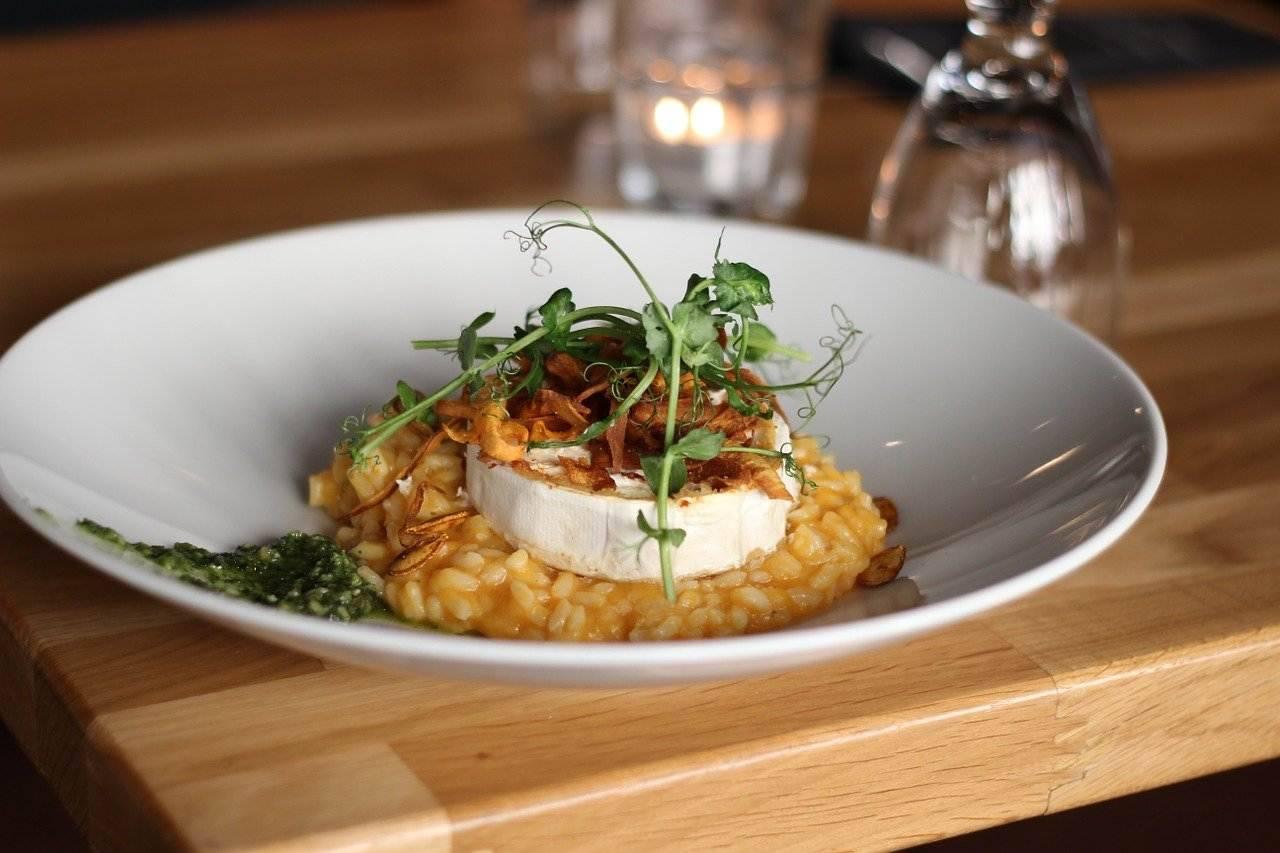 risotto di zucca e gorgonzola