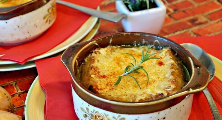 zuppa di cipolle, pranzo veloce