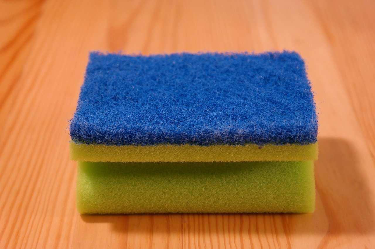 pulire igienizzare spugnetta