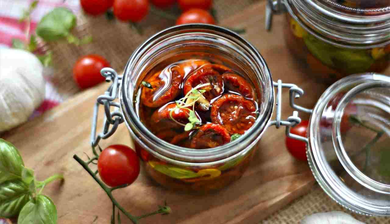 pomodori secchi, metodo veloce
