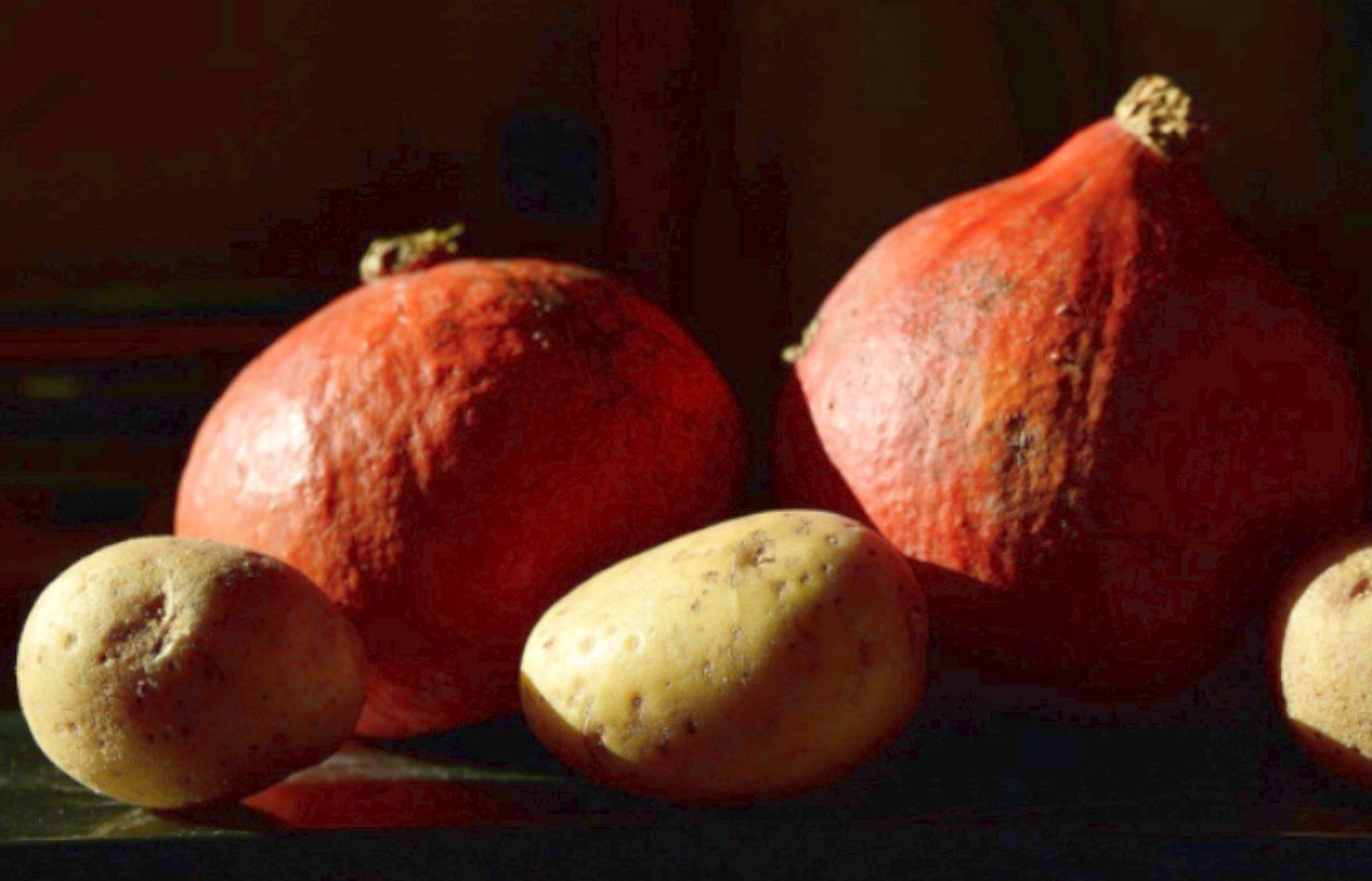 Zucca e patate al forno