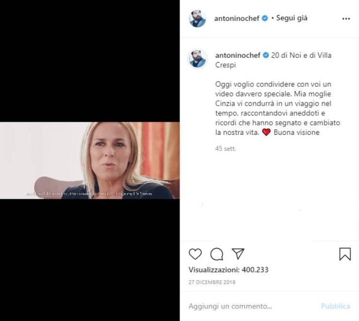 Antonino Cannavacciuolo moglie