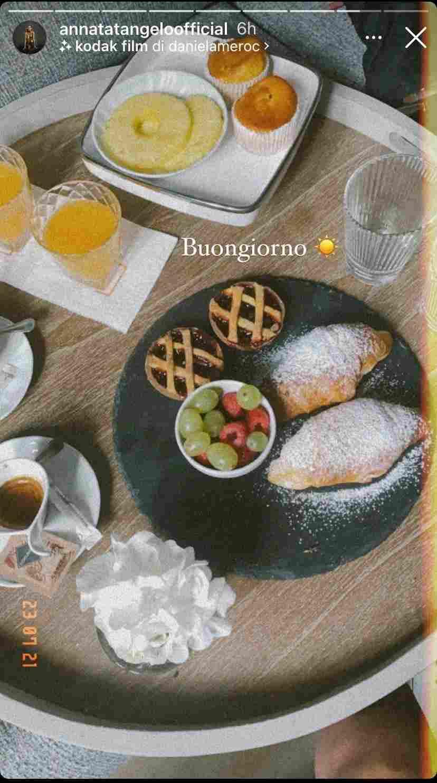 Anna Tatangelo - colazione