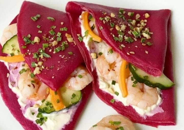 crepes fucsia salate