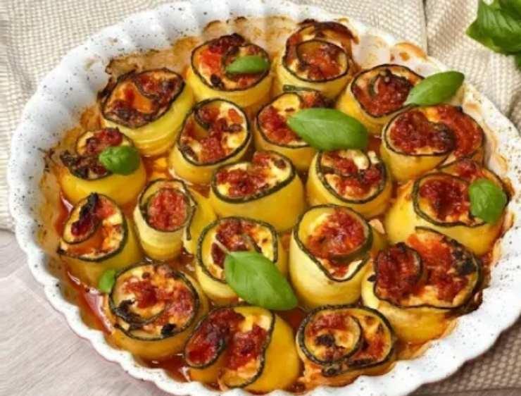 involtini zucchine alla parmigiana