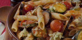 pasta cremosa con verdure