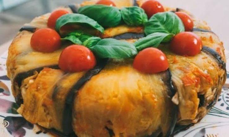 timballo parmigiana di spaghetti