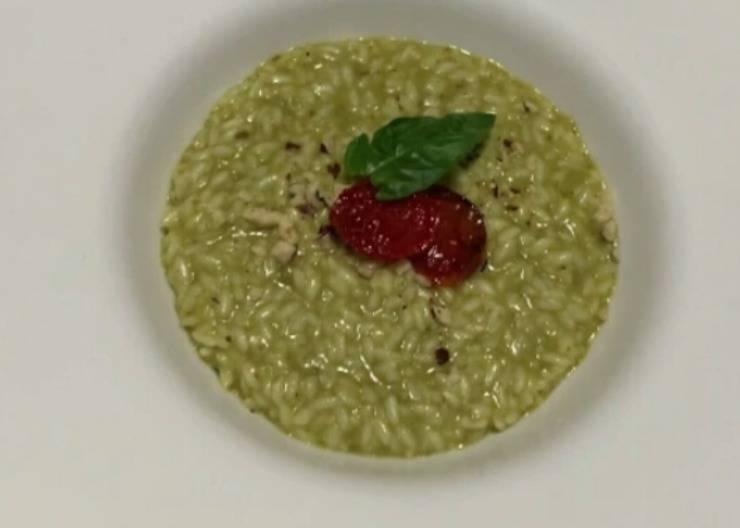 risotto con pesto basilico