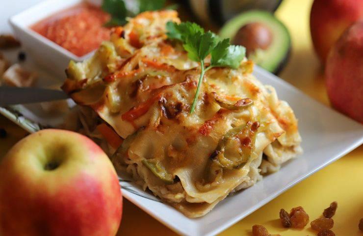 pasticcio freddo di lasagne e verdure