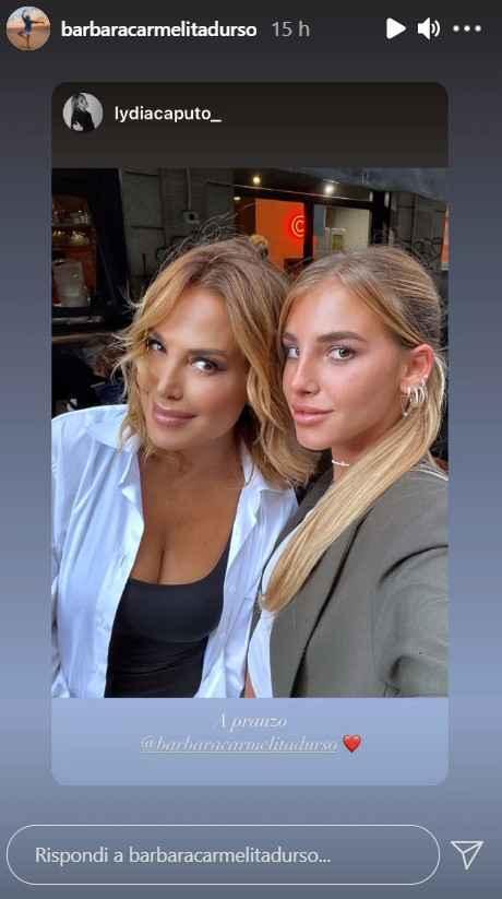 Barbara D'Urso e Lydia Caputo