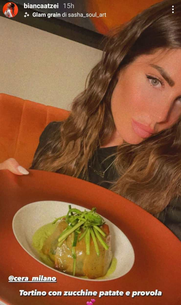 Bianca Atzei coccola: gusto unico