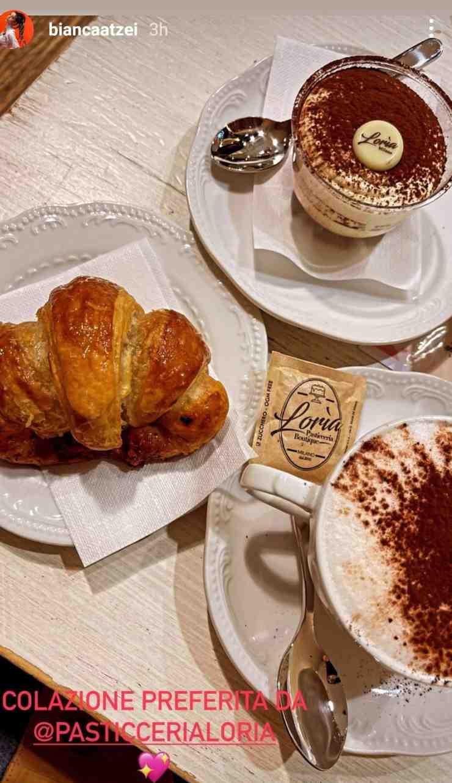 Bianca Atzei colazione preferita