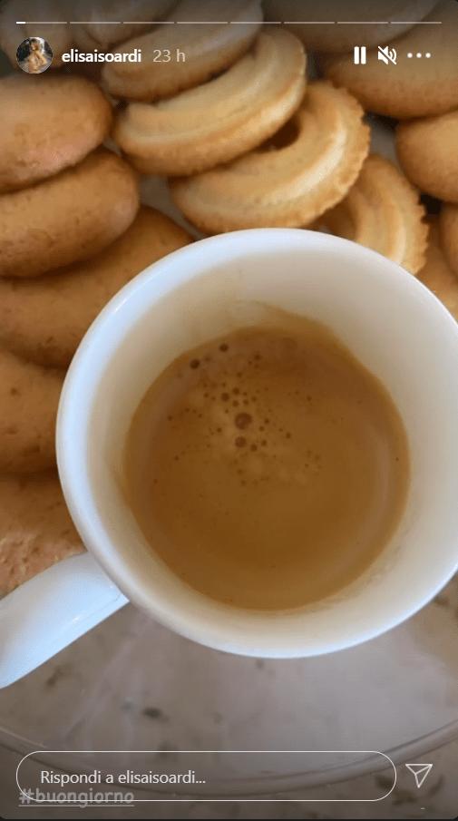 Elisa Isoardi abitudine caffè mattutino