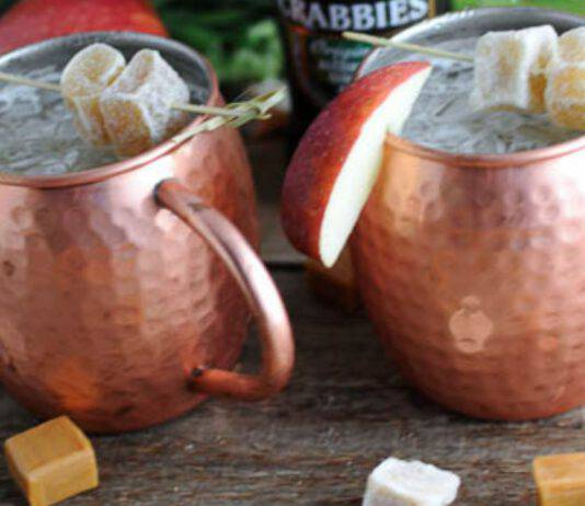 Caramel Apple Mule ricetta cocktail autunno