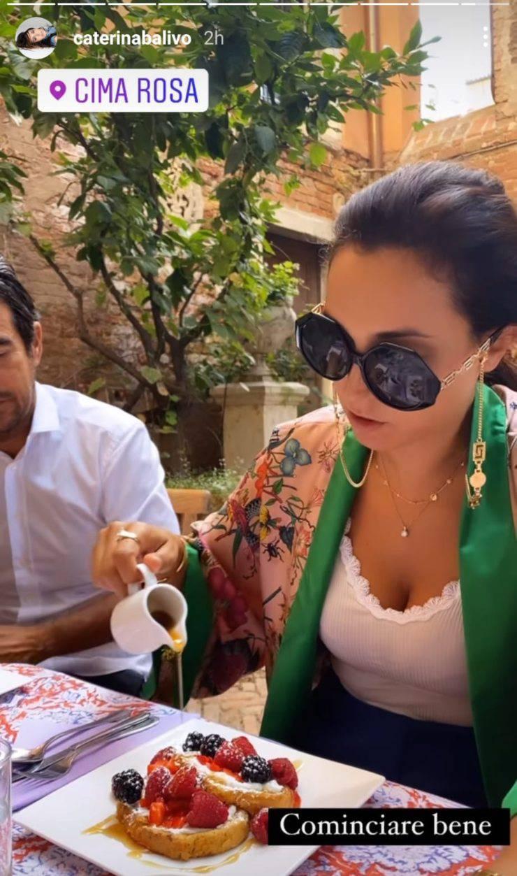 Caterina Balivo a Venezia: momento dolcissimo