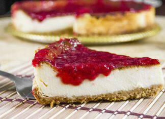 Cheesecake ricotta e fragole base cacao ricetta sprint