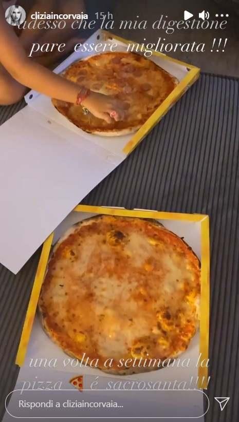 Clizia Incorvaia pizza (Instagram)