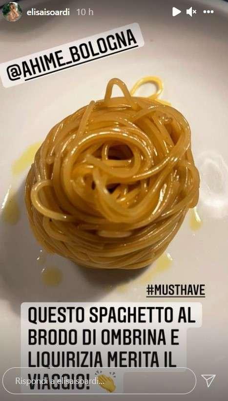 Elisa Isoardi spaghetti