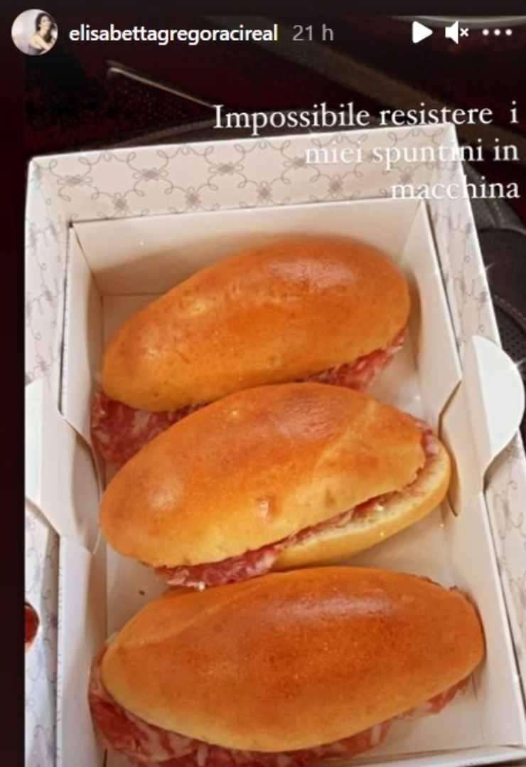 Elisabetta Gregoraci panini al salame
