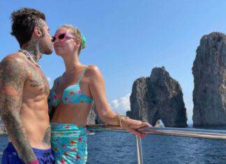 Fedez e Chiara Ferragni a Capri