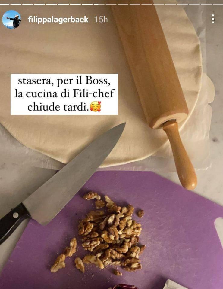 Filippa Lagerback: preparazione cena