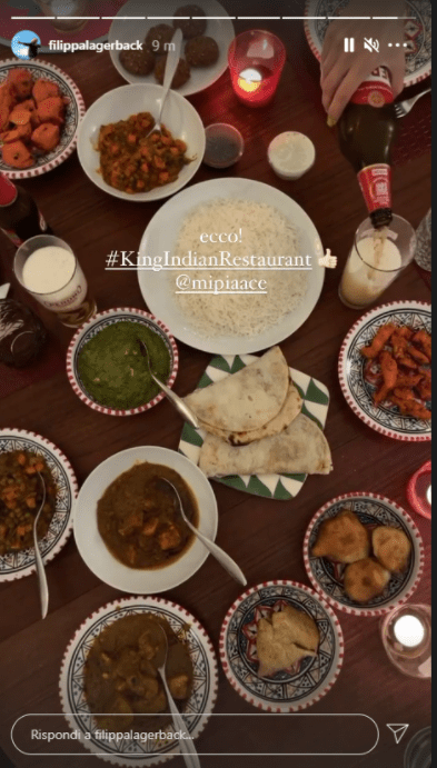 Filippa Lagerback ristorante indiano foto