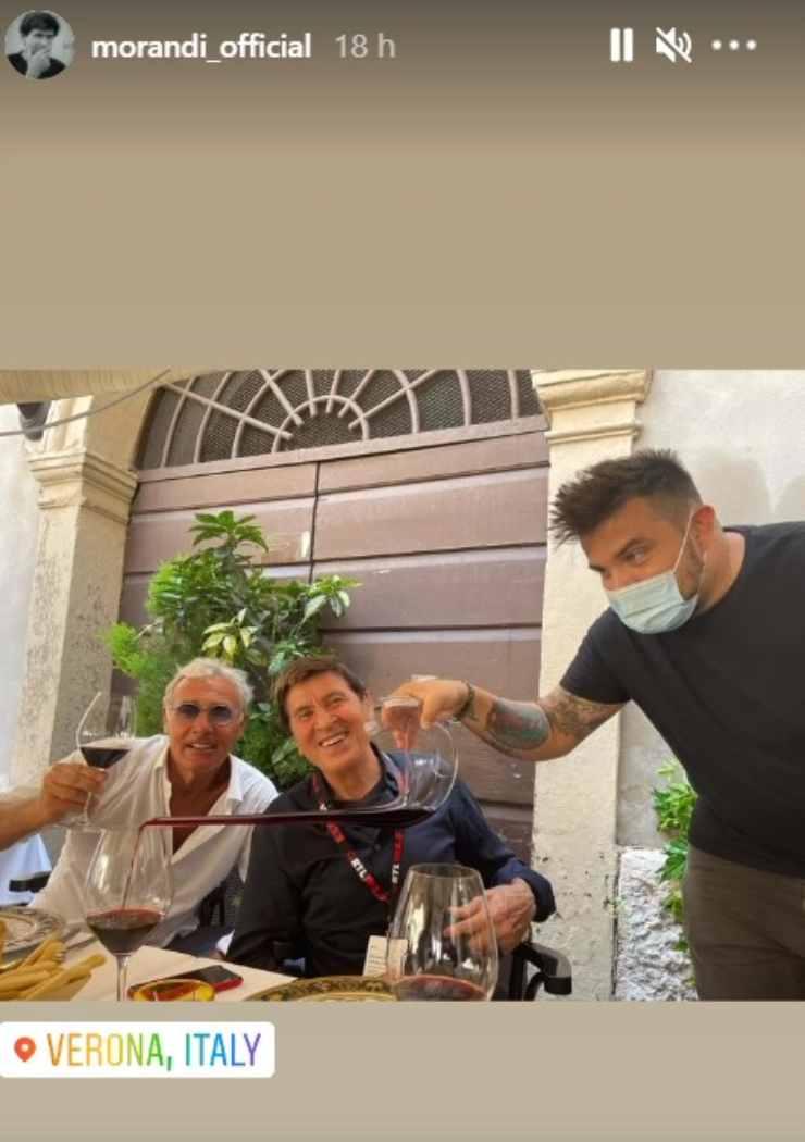 Gianni Morandi e Massimo Giletti