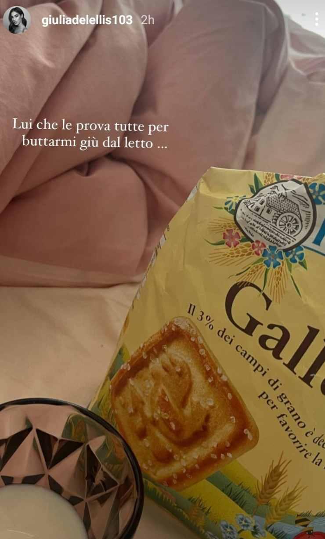 Giulia De Lellis colazione: semplice ed essenziale