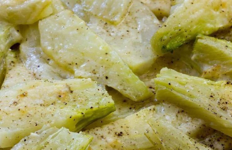 I finocchi al formaggio in padella