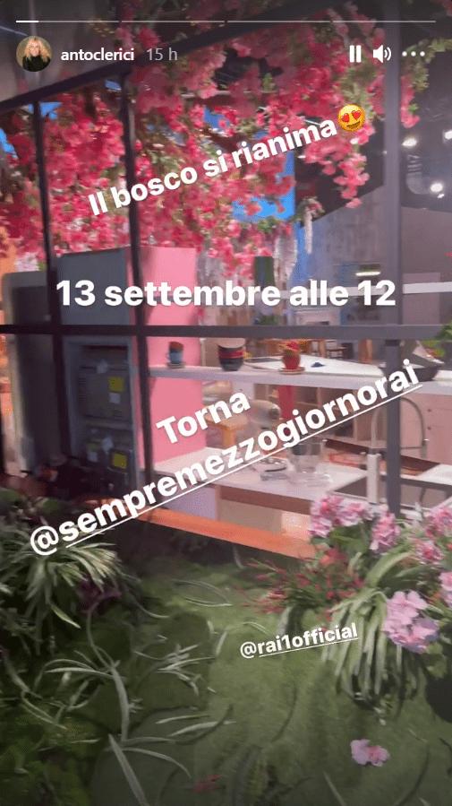 Antonella Clerici spoiler studio E' sempre mezzogiorno foto