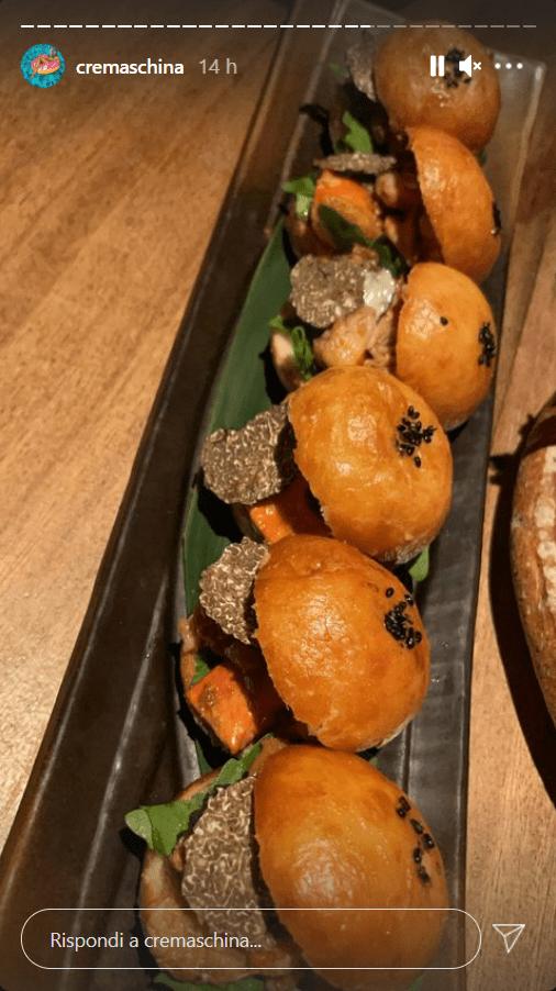Laura Cremaschi cena gourmet foto spettacolari