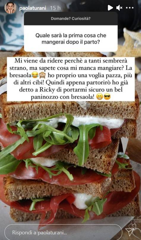 Paola Turani panino con bresaola
