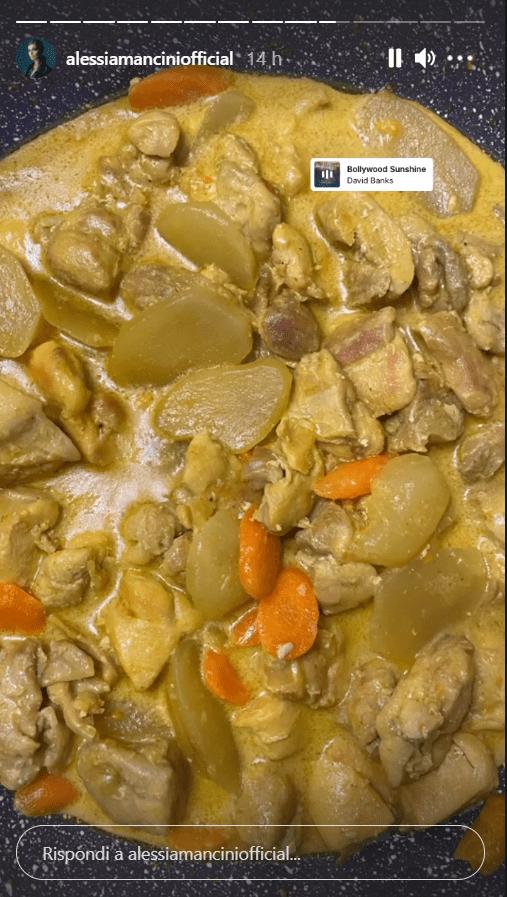 Alessia Mancini ricetta pollo curry foto