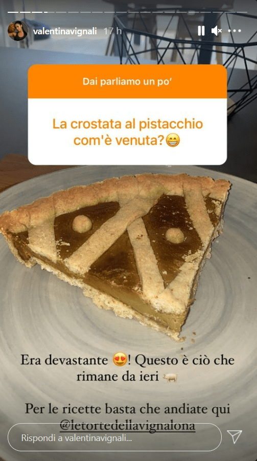 Valentina Vignali ricetta crostata pistacchio