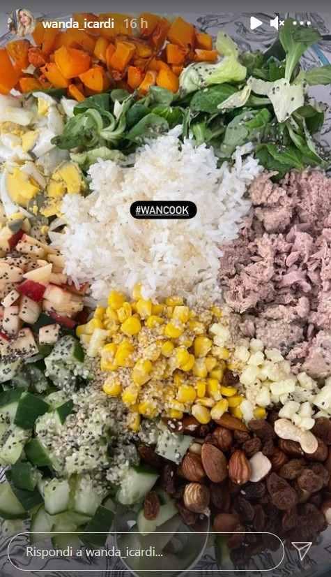 Wanda Nara insalata