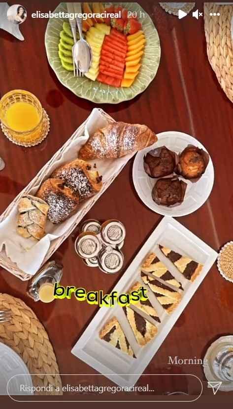 Elisabetta Gregoraci colazione