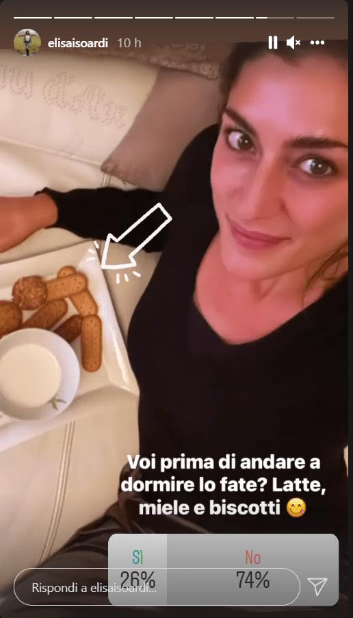 Elisa Isoardi paccheri a pranzo vera tentazione foto