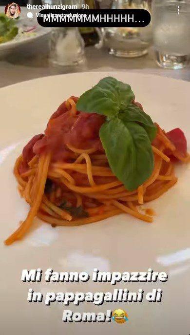 Michelle Hunziker spaghetti al sugo