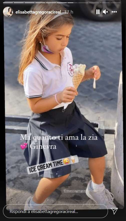Elisabetta Gregoraci innamorata nipotina Ginevra gelato foto