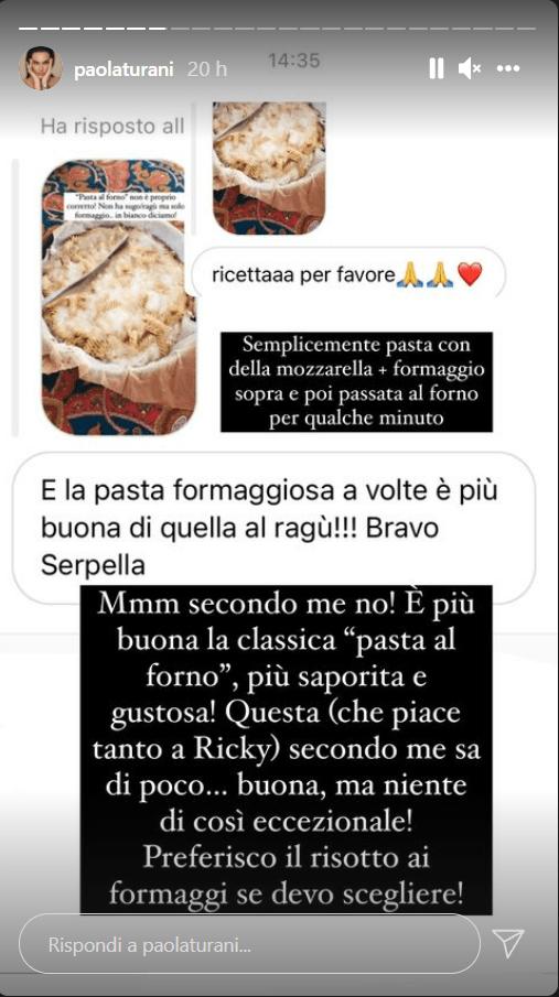 Paola Turani ricetta pasta al forno formaggiosa foto