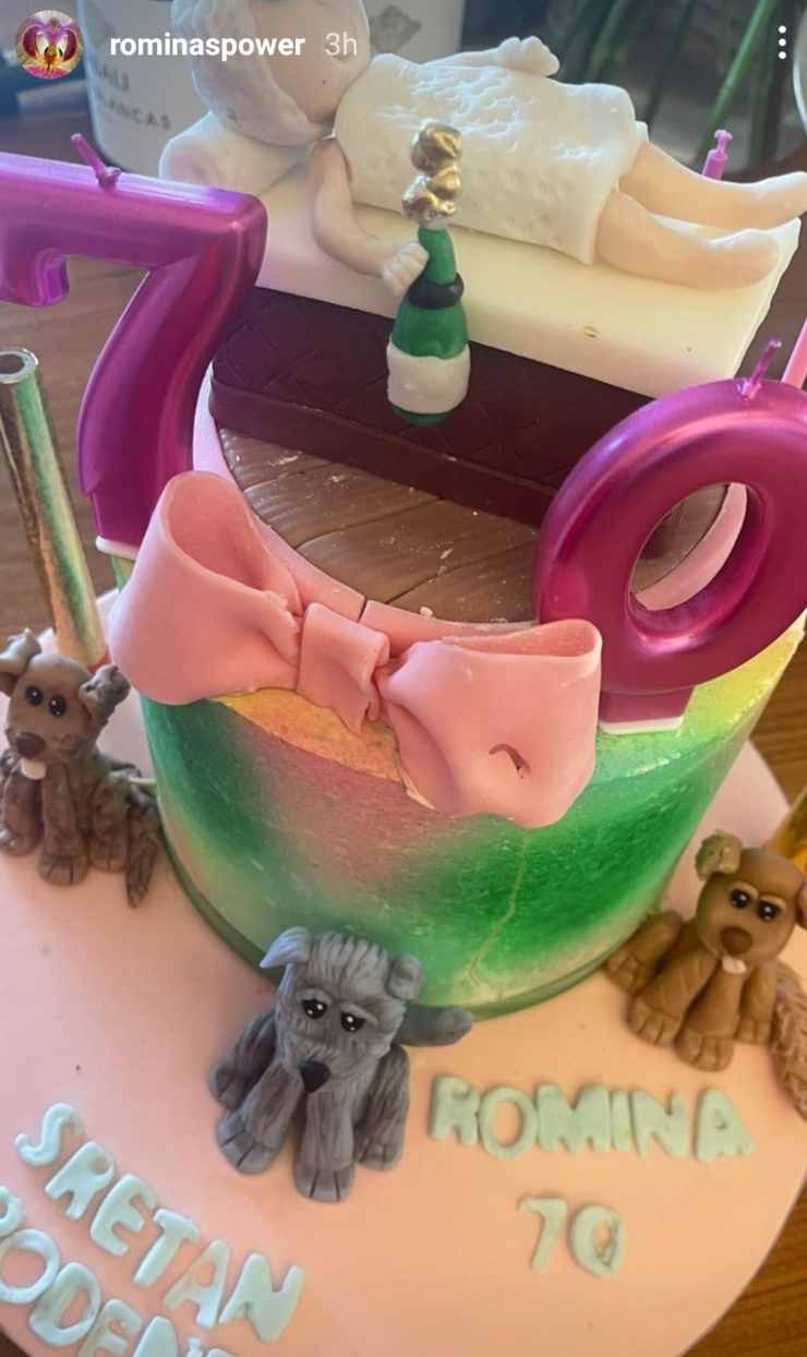 Romina Power torta compleanno