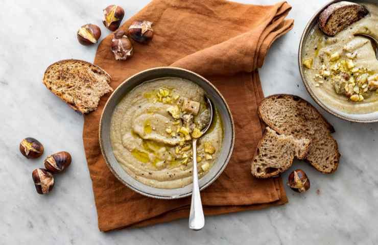 Zuppa porcini e castagne ricetta veloce