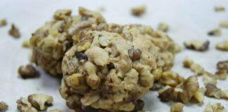 biscotti light di noci al cacao