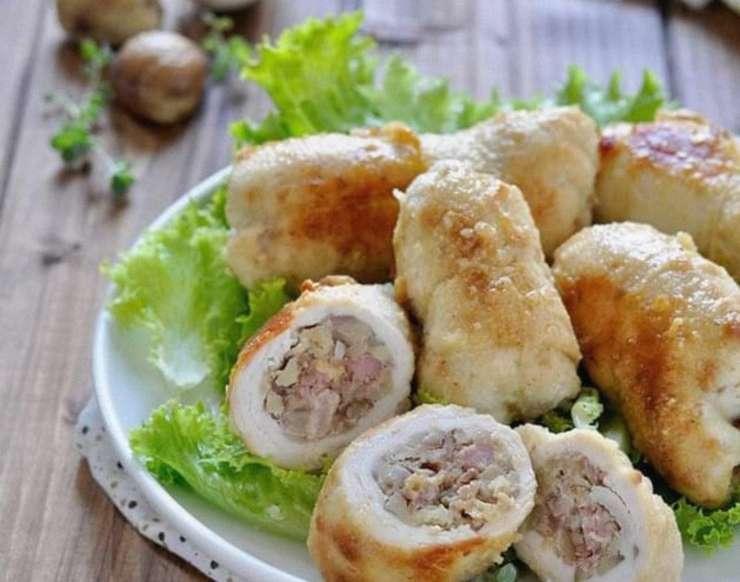 involtini con castagne e salsiccia