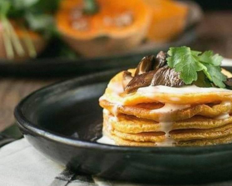 pancake salato alla zucca